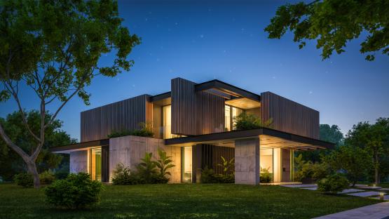 Архиектурная подсветка дома