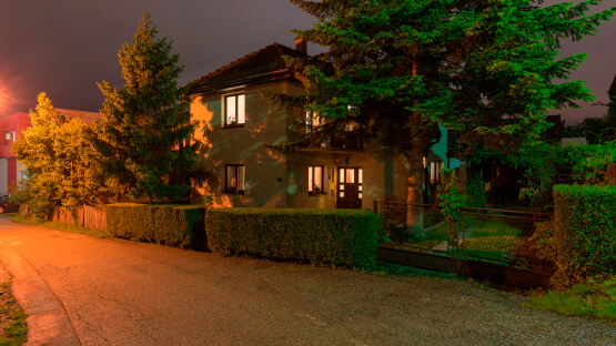 Освещение участка у дома
